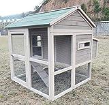 """Zoopplier Hühnerstall Hühnerhaus Chickenhouse Nr. 04""""Pickerparadies mit Eierbox und Freilauf"""