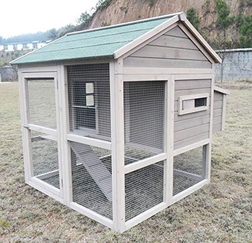 """Hühnerstall Hühnerhaus Chickenhouse Nr. 04 """"Pickerparadies"""" mit Eierbox und Freilauf - 4"""