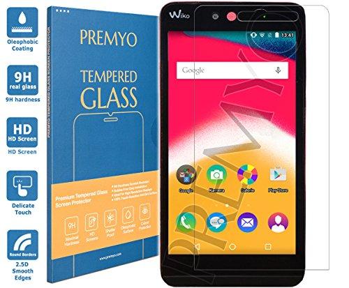 PREMYO Panzerglas Schutzglas Bildschirmschutzfolie Folie kompatibel für Wiko Rainbow Jam Blasenfrei HD-Klar 9H 2,5D Gegen Kratzer Fingerabdrücke