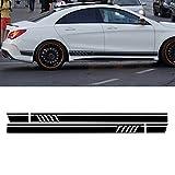 JenNiFer Paire D'Autocollants De Stickers De Voiture De Bandes Latérales De Sport pour Benz W117 C117 X117 Cla Amg