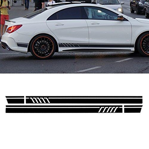 JenNiFer Paar Sport Seitenstreifen Auto Aufkleber Decals Für Benz W117 C117 X117 Cla Amg