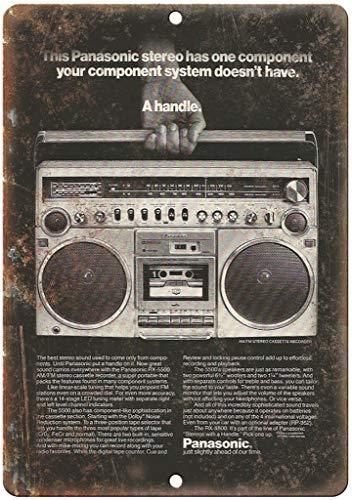 Lorenzo Panasonic Boombox Ghetto Blaster Vintage Metal Vintage Metallblechschild Wand Eisen Malerei Plaque Poster Warnschild Cafe Bar Pub Bier Club Dekoration