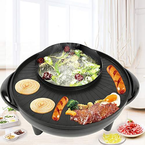 Ausla 2 en 1 Grill y Hot Pot, olla eléctrica multifunción, 1200...