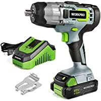 Workpro 20V Cordless Impact Wrench, 1/2