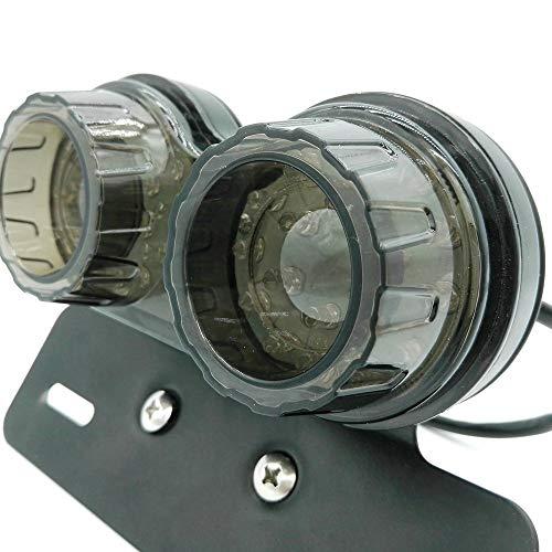 ONGMEIL バイク 汎用 テールライト スモークレンズ テールランプ LED ライセンスナンバー プレートライト ターンシグナル