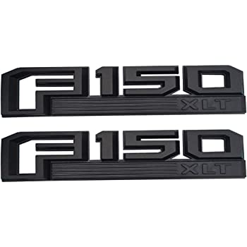 3Pcs F150 LARIAT Emblems Black Fender Tailgate Sticker 3D Snap Type Badge Nameplate Set Replacement For Ford 15-17 F-150