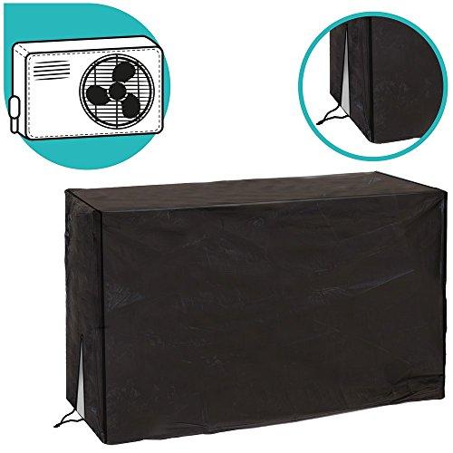 Ldk Garden Funda para Aire Acondicionado de PVC Reforzado 90 X 30 X 55 cm, Negro, 90x30x55 cm