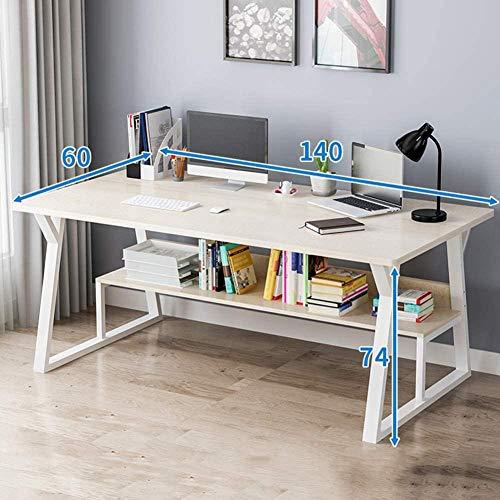 Computertisch für das Home Office Großer Arbeitsplatz Schreibtisch Computertisch PC Laptop Tisch Spieltisch mit Aufbewahrung Single-Layer Maple Cherry Wood-Doppelschichtiges Ahorn-Kirschholz_140 x 6