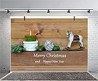 Qinunipoto クリスマス 背景 撮影 撮影背景 撮影用 背景布 プロ級写真撮影用 撮影用バックペーパー 人物撮影 子供撮影 背景シート メリークリスマス 写真館 撮影スタジオ用 パーティー ビニール製 3x2m
