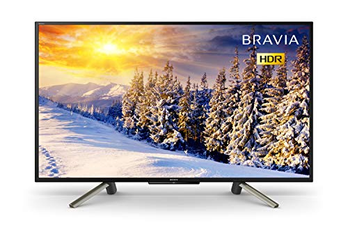 Sony Bravia KDL43WF663 43-Inch Full HD HDR Smart TV with Freeview Play, Black
