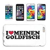 Reifen-Markt Funda para teléfono móvil compatible con HTC M8 I Love Meine Goldfish Acuario Peces Dibujos Animales Funda Funda Smart Cover