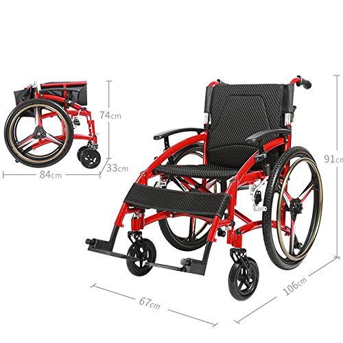 Ultraleichter Aluminium-Klapprollstuhl, Faltbarer und selbstfahrender Rollstuhl, stilvoller Sportrollstuhl