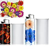 2 Pieces Universal Lighter Cover Silicone Resin Mold and Colorful Dried Flowers, Universal Cigar Lighter Protective Cover Punch Epoxy Resin Mold Compatible with J5/ J3 Accessories, DIY Craft Making