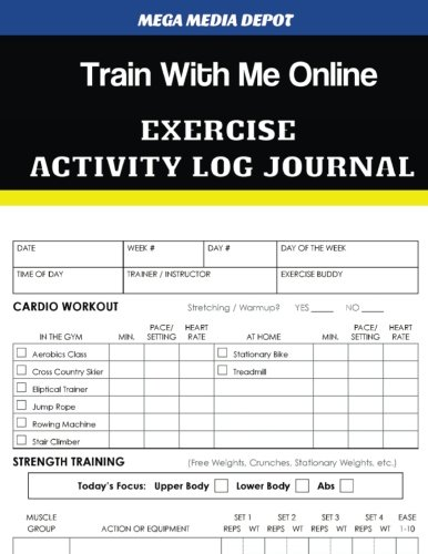 Train With Me Online Exercise Activity Log Journal