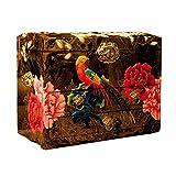 HAIHF Boîte à Bijoux, Nacre D'oiseaux et Pivoines Design F