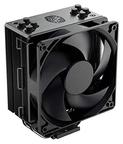 Tranquilo 212 Black Edition CPU Air Coolor, Silencio FP120 Ventilador, 4 CDC 2.0 HotMipipe, Pistola-Metal Anodizado Negro, Aletas Deníquelcepillado para Ryzen/Intel LGA1200 / 1151 Fácil de Transport