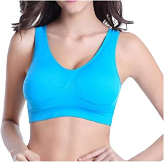 Howme-Women Wire-Free Workout Gym Solid Color Wirefree Activewear Bra