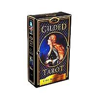タロットカード、金色のタロットオラクルカードボードデッキゲームパーティーゲームのトランプ