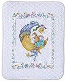 Design Works Crafts Tobin, 34' x 43' Stamped Baby Quilt, Bunny