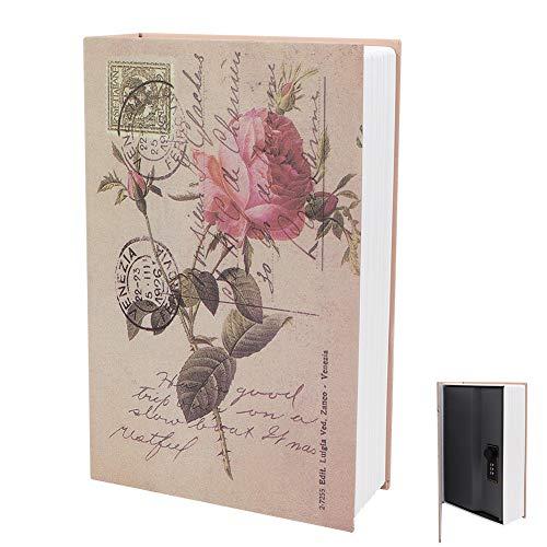 HERCHR Caja de Almacenamiento Segura para Libros de desvío, Caja con Cerradura Oculta para Mini Libro, Caja para esconder Dinero con Cerradura de combinación de 9,6x6,2x2,2 Pulgadas