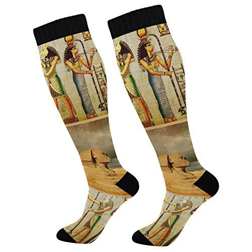 PUXUQU Antiguo Egipto Egipto - Calcetines largos para hombre y mujer