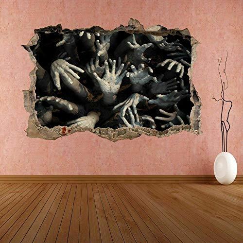 Pegatinas de paredZombie Hands Scary Wall Sticker Mural Decal Kids Room Decoración del hogar DB5