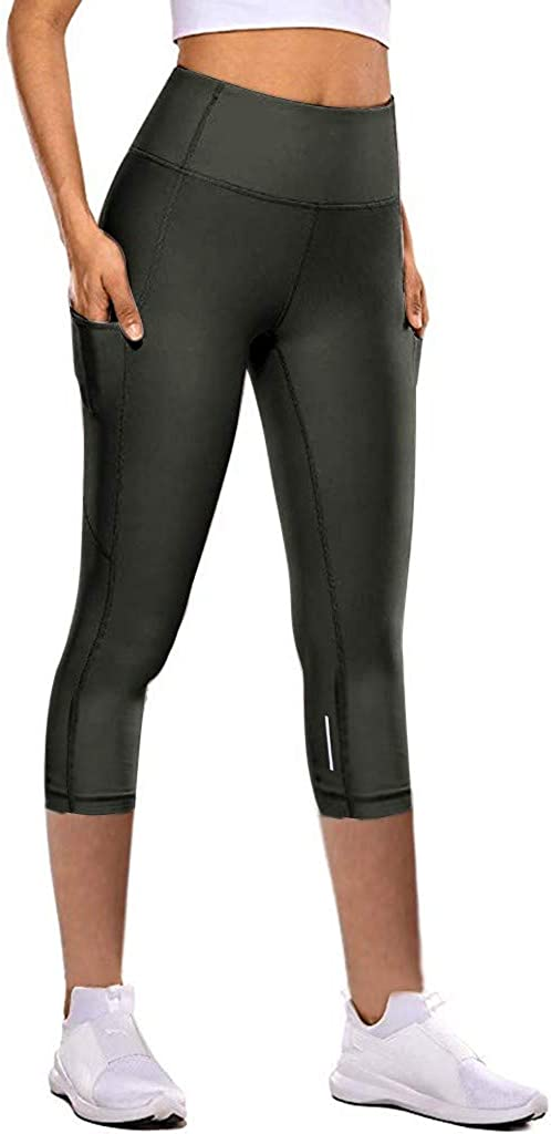 YSLMNOR Running Athletic Pants for Womens High Waist Tights Running Workout Fitness Yoga Tights