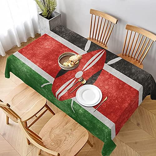 DJNGN Tischdecke mit Flagge von Kenia, für Familien, Küche, rechteckig, für Picknick, Grillen, 152,4 cm