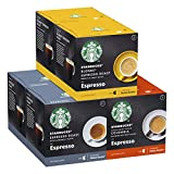 STARBUCKS By Nescafe Dolce Gusto Variety Pack Black Cup Coffee Pods, 6 X 12 Cápsulas