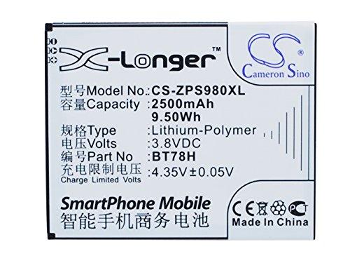 CS-ZPS980XL Batteria 2500mAh compatibile con [ZOPO] 2A, 9515, C2, C3, ZP980, ZP980 Plus, [KOMU] K5 sostituisce BT78H
