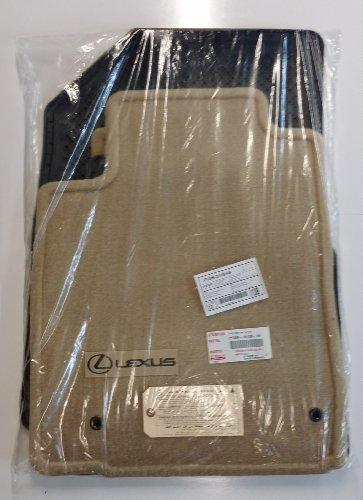 Toyota Genuine Parts PT206-33100-09 OEM Lexus ES350 Camel Carpet Floor Mat Set