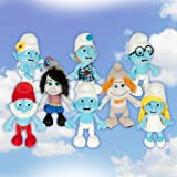 Official The Smurfs 2 Complete 8 Piece Plush Set Doll Toy Vexy Hackus Smurfette Gutsy Clumsy
