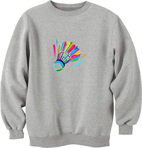 Nothingtowear Unisex Badminton Federball Logo Sweatshirt Jumper Grau S