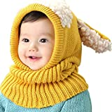 Tisi Baby Boys & Girls Warm Knit Cute Dog Hat & Scarf Set Niño Invierno Crochet...
