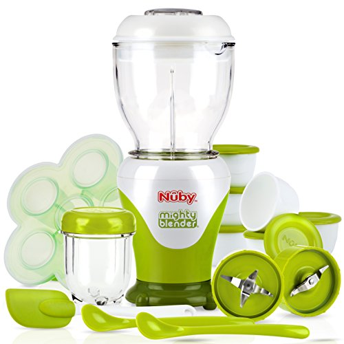 Nuby Garden Fresh Mighty Blender with Cook Book, 22 Piece Baby Food Maker Set