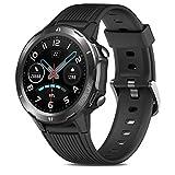 Reloj Inteligente Hombre, GRDE Smartwatch Mujer Redondo 12 Modo Deportivo con (Monitor de Ritmo...