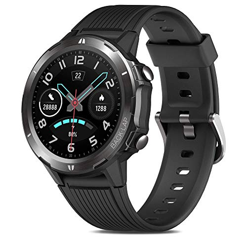 Reloj Inteligente Hombre, GRDE Smartwatch Mujer Redondo 12 Modo Deportivo con (Monitor...