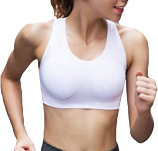 79157f40b1c76 BYWX Women Running Full-Support Wireless Yoga Gym Push-up Sports Bra