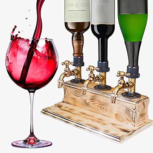 FBSSD Dispensador de Licor, Alcohol, Whisky, Madera, Whisky, Alcohol, Bebida, Botella, dispensador, día del Padre, Forma de Grifo, dispensador de Licor, para cenas de Fiesta, Bares y Bebidas