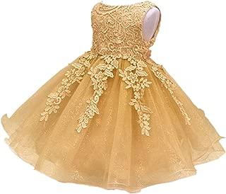 gold baby girl dress