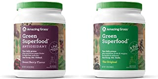 Amazing Grass Green Superfood Antioxidant: Organic Plant Based Antioxidant and Wheat Grass Powder for Full Body Recovery, ...