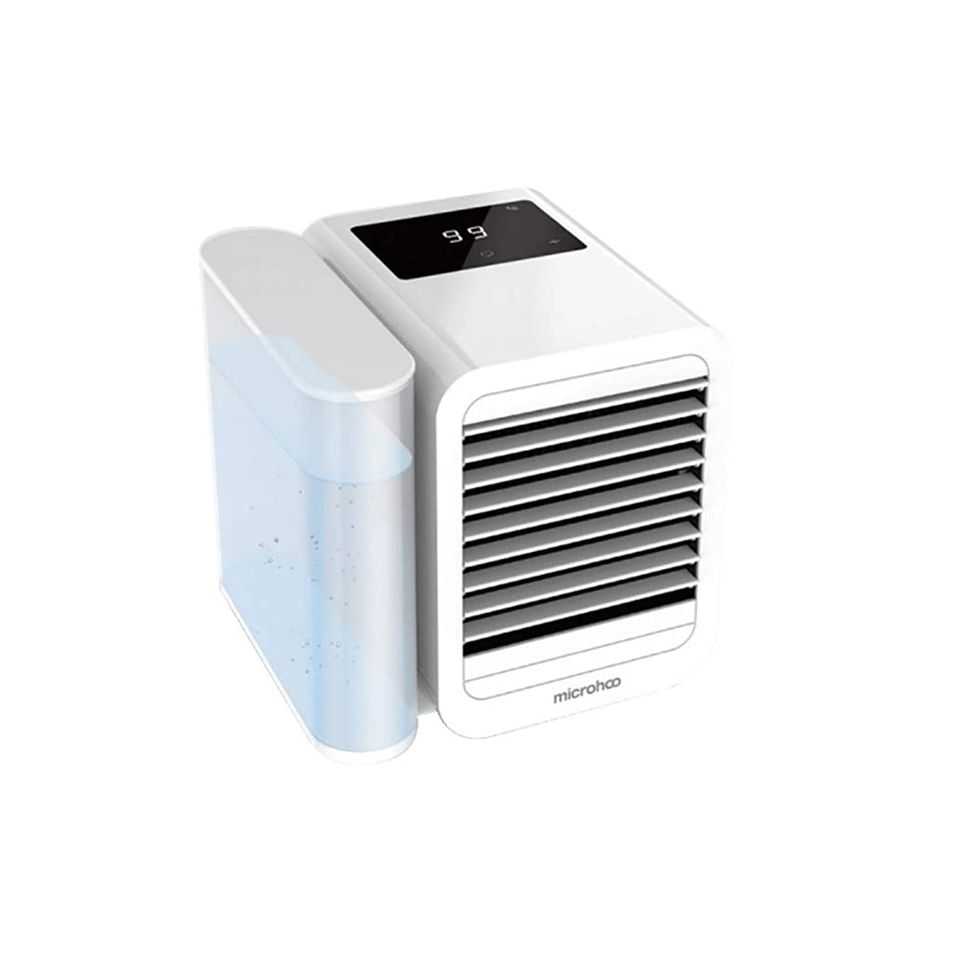 Personal Air Cooler Portable Air Conditioner Fan With Usb, Rechargeable Mini Cooling Desktop Fan, Cooler Fan/Humidifier and Purifier 3 in 1 Evaporative Cooler for Home Room Office Outdoors