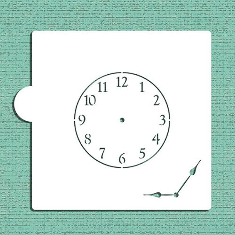 Mini Clock With Hands Cookie And Craft Stencil CM057 By Designer Stencils