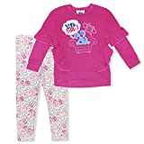 Nickelodeon Blue's Clues Girl's 2-Piece Let's Think Ruffle Pullover and Legging Pant Set, Pink, Size 4T