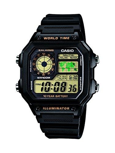 Casio Youth Digital Black Dial Men's Watch - AE-1200WH-1BVDF (D098)
