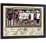 SGH SERVICES Gerahmtes Poster Roger Federer Agassi Nadal