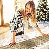 AirSMall Noel Tischläufer Weihnachten Tischdecke Rot Tischband Xmas Tischtuch Tisch Läufer Mitteldecke Leinen tischläufer für Weihnachtsessen Esstisch Kommunion Tischdeko Winter Deko - 4