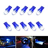 jeep liberty 2003 grill guard - iJDMTOY (10) Ultra Blue Single-Emitter 1-LED 168 175 194 2825 W5W T10 LED Replacement Bulbs Compatible With Car Interior Lights, Map Lights, Dome Lights, Foot Area Lights, Trunk Area Lights, etc