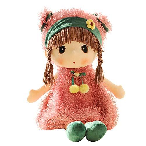LICHENGTAI Muñecas de Peluche Muñecas Trapo Bebe de Encantador Dulce Niña, Historieta de la muñeca de Peluche de Juguete de Felpa Boda muñeca de Trapo, Juguete de Peluche para niña, 45cm (Rosado)