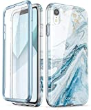 i-Blason Cosmo Full-Body Bumper Case for iPhone XR 2018 Release, Blue Marble, 6.1'